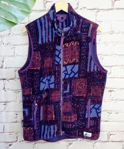 Vintage MEC Abstract Print Fleece Vest